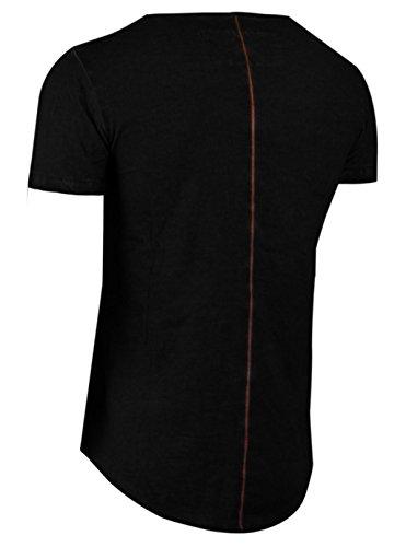 trueprodigy Casual Herren Marken T-Shirt einfarbig Basic, Oberteil cool und stylisch mit Rundhals (kurzarm & Slim Fit), Shirt für Männer in Farbe: Schwarz 1062101-2999 Black