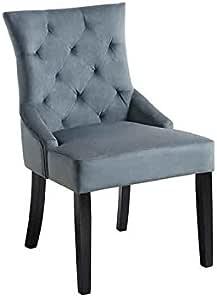 My Furniture Torino gepolsterter Stuhl mit Scoop Lehnenrolle und dunkelgraue Beine