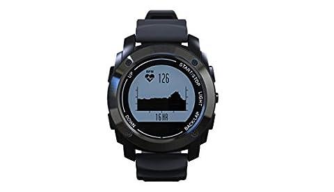 Smart Watch Profi Sportausrüstung GPS Positionierung Druck Temperatur Höhe Herzfrequenz Erkennung Reiten Bergsteigen Laufuhr , black