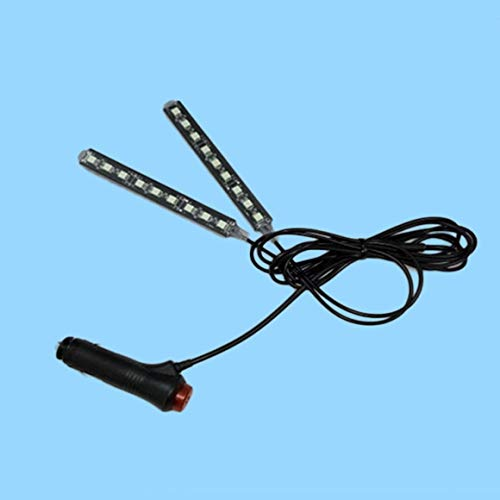 Funnyrunstore 2x9 LED 12V Car Styling Intérieur Dash Floor Foot Décoration Lampe Lumière Cigarette LED Atmosphère Lumières Décoration Lampe (lumière verte)