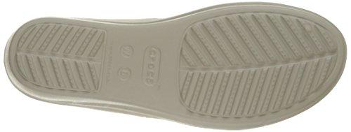 Crocs Sanrah Wedge W, Sandales - Femme Gris (Platinum/Silver)