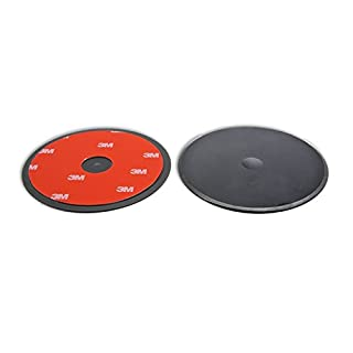 Navitech 80 mm, runde, selbstklebende Scheibe, universal einsetzbar für Navitech Black Hard Carry Case / Cover For The Becker transit.6 LMU