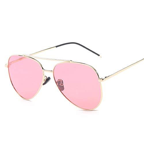 WULE-Sunglasses Unisex Big Metal Round Frame Pilot Rahmentyp Übergröße Fashion Classic Frog Mirror UV400 Objektiv Unisex polarisierte Sonnenbrille (Color : Rot, Size : Kostenlos)