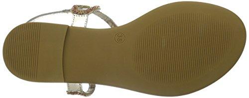 Inuovo - 6338, Scarpe col tacco con cinturino a T Donna Oro (Gold (GOLD))