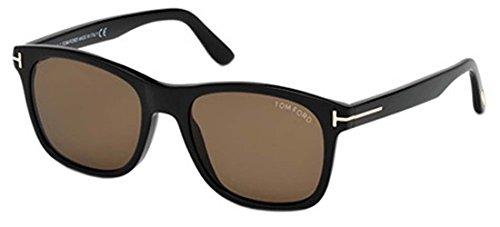 Tom Ford Unisex-Erwachsene FT0595 01J 55 Sonnenbrille, Schwarz (Nero Lucido/Roviex),
