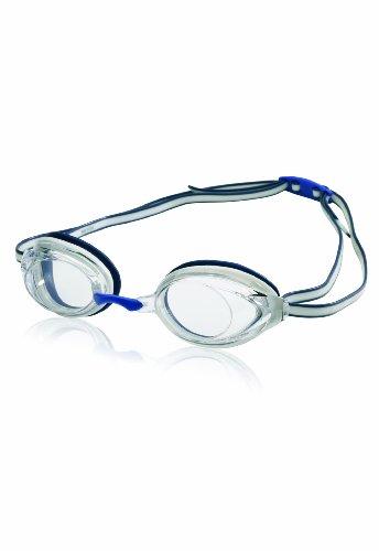 Speedo Vanquisher 2.0 Anti-Fog Swim Swimming Competition Pool Goggle, White/Navy -