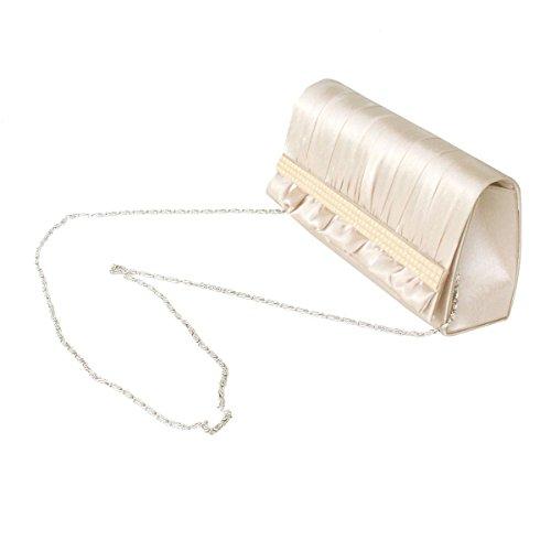 Fashion Abendclutch Falten Geldbeutel-Braut Prom Handtaschen-Partei Wilde Beige