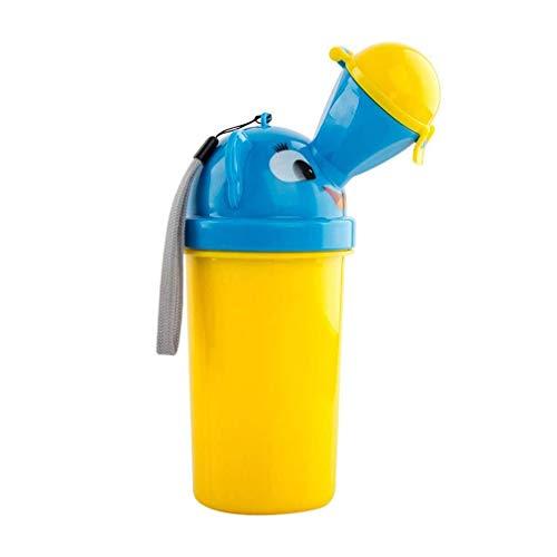 Orinatoio portatile bambino vasino all'aperto servizi igienici di emergenza per auto da campeggio viaggio e formazione Kid vasino pipì,Giallo, 18.5 * 7cm