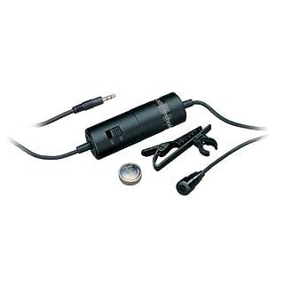Audio-Technica ATR-3350 ATR Series Omnidirectional Condenser Lavalier Microphone - Black