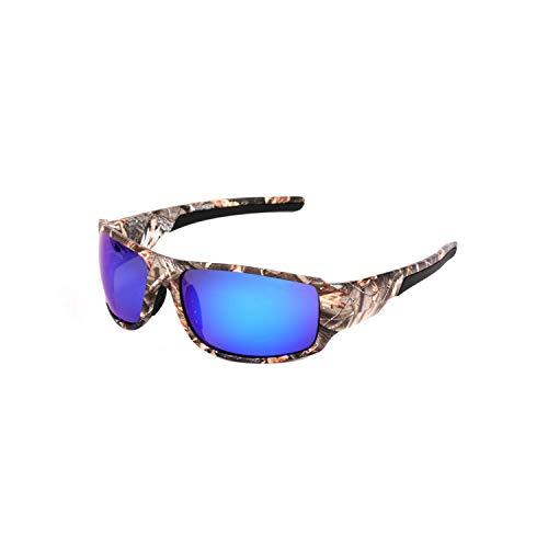 Sport-Sonnenbrillen, Vintage Sonnenbrillen, NEW Brand Polarisiert Sunglasses Camouflage Frame Sport Sun Glasses Fishing Eyeglasses Oculos De Sol Masculino Camo l Blue