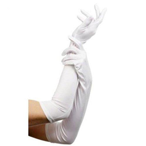 schmuck Satin lange Stretch Finger Kostüm Handschuhe Party Oper Abendkleid Handschuhe ()