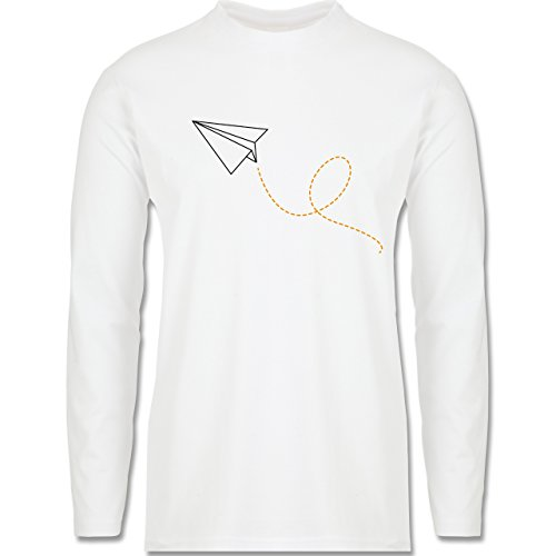 Symbole - Papierflieger - Longsleeve / langärmeliges T-Shirt für Herren Weiß