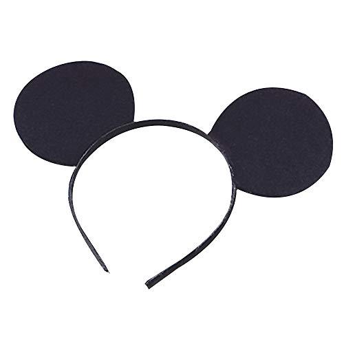 Mickey Zauberer Mouse Kostüm - Felt Bristol Novelty MD104 Mausohren, Schwarz, Unisex- Erwachsene, One Size