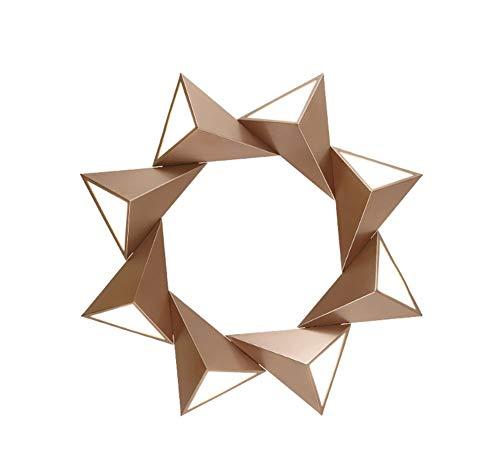 te Geometrie Deckenleuchten led - der Moderne's Fashion Kinderzimmer Schlafzimmer Leselampen Wandleuchte (Farbe: Gold) Post ()