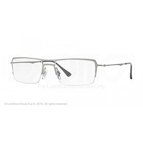 RAY BAN Brillengestell RX 8713 1156 Gebürstetes Silber 56MM