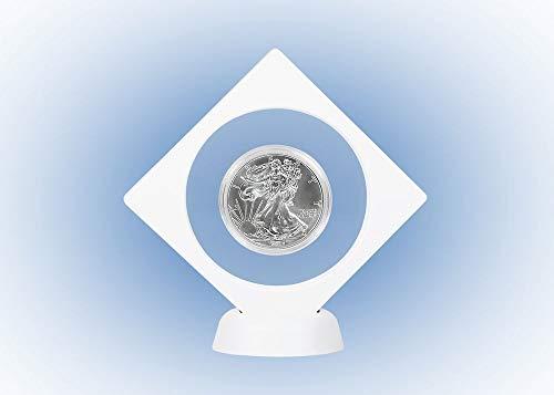 LINDNER Das Original Objektrahmen Nimbus NEMO, mit rundem Ausschnitt Ø 75 mm, weiß (Nemo Ausschnitt)