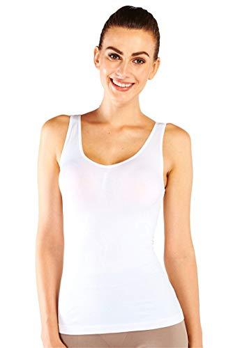 e0d6bda055833 Franato - Haut Sculptant - Col Rond - sans Manche - Femme - Blanc - X-Large