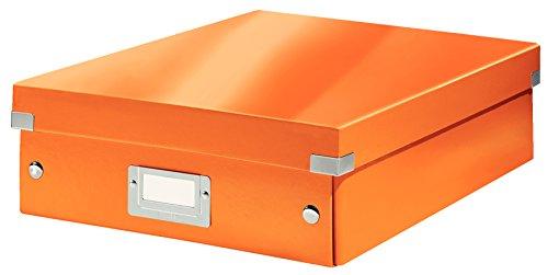 Leitz, Mittelgroße Organisationsbox, Orange, Click & Store, 60580044