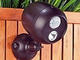 Kabellose Aussenleuchte mit PIR Bewegungsmelder und 1W LED - Automatisches Beleuchten ohne lästiges Kabelverlegen