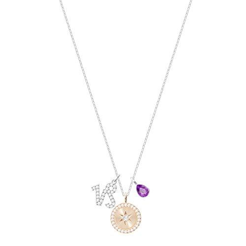 Swarovski Zodiac Anhänger, Steinbock, violett, rhodiniert