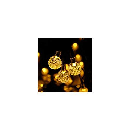 Luces LED globo con energía solar decorativas con 30 bombillas de burbujas...