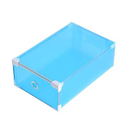 Yardwe 5 stücke Schuhe Box lagerung stapelbar Faltbare Hause schuhcontainer transparent büro Organizer für männer Frauen (Blau) (Box-speicher Sneaker)