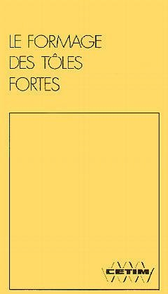FORMAGE DES TOLES FORTES
