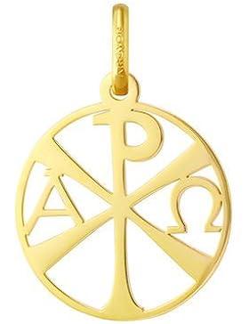 Christusmonogramm durchbrochen–Religiöse Medaille–Gelbgold 18kt–Durchmesser: 18mm–www.diamants-perles.com