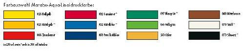 Linoldruckfarbe 500ml mittelblau