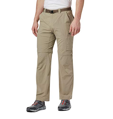 Columbia 2-in-1 Wanderhose für Herren, Silver Ridge Convertible Pants, Nylon, beige (Tusk), Größe: 32, AM8004 Sony Zip