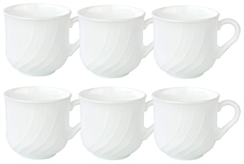 6er Set Bormioli Rocco EBRO Kaffeetasse 220 ml, Opal-Hartglas