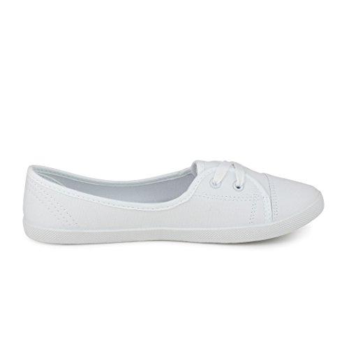 best-boots Ballerine Sneakers Sneaker scarpe da ginnastica Textil White (fällt größer aus)