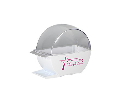 Star Naildesign & Cosmetics Designer Zellettenbox weiß mit Standfuss (Nail Pinsel-spender)