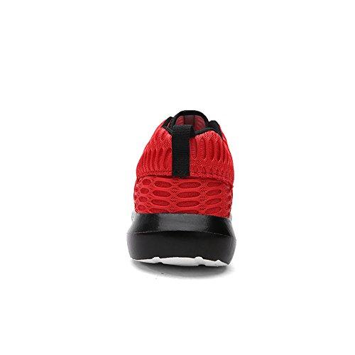 OxsOy, Scarpe da corsa uomo nero Black Red