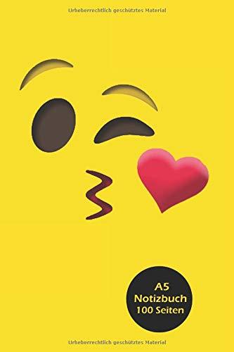 Notizbuch: Emoji / Emoticon / Smiley lachen Notebook, liniert, 100 Seiten, ca. DIN A5 (15,24 x 22,86 ()