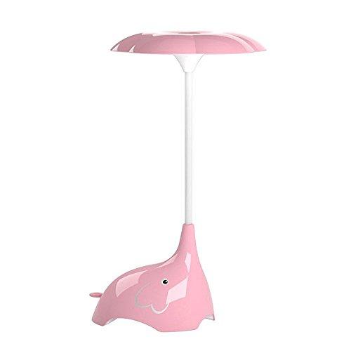 Debon Cute Elefant Kinder Nachtlicht, Kinder Flexible Schreibtisch Lampe, Button Touch Sensor Control 3Stufen Helligkeit USB wiederaufladbar LED Lampe rose (Touch-lampe Rose)
