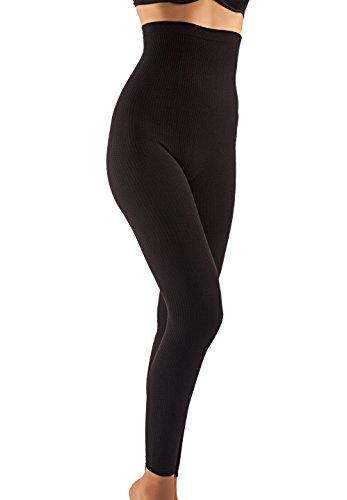 Farmacell 133 (Noir, L/XL) Legging Massant Anti-cellulite Taille Haute pour Femme