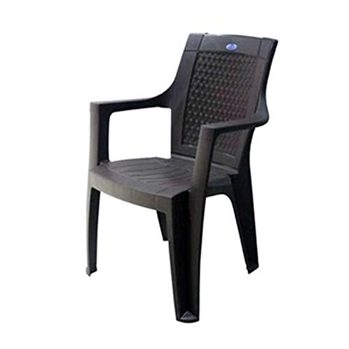Nilkamal Rosa Plastic Chair (Rust Brown)