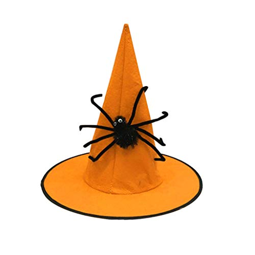Mann Custom Spider Kostüm - Mitlfuny Halloween coustems Kürbis Hexe Cosplay Gast Ghost Schicke Party Halloween deko,Halloween Hut Ghost Festival Nonwoven Spider Wizard Hat