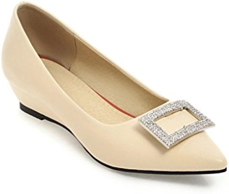 Elegante superficial del agua-pendiente con números grandes con los zapatos de mujer casual, blanco 3CM,42