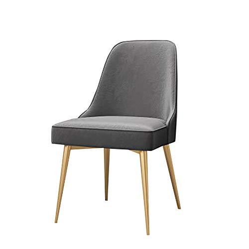 Esszimmerstühle YXX Home Dining Side Chair für eckige Tische für schwere Menschen, Samtsitz, Eisenbeine, Lastaufnahme: 300 lbs (Farbe : #3, größe : Set of 6)