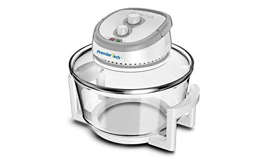 PremierTech Forno Alogeno ad Aria Ventilato 17 litri 1400 watt Multifunzione cuoce senza olio (Bianco)