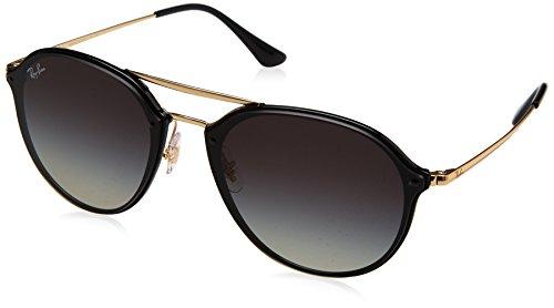 RAYBAN JUNIOR Unisex-Erwachsene Sonnenbrille Blaze Double Bridge Black/Greygradientdarkgrey 62