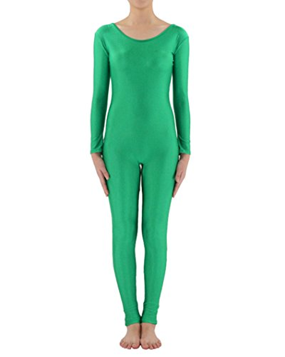 Kostüm Grün Unitard (Ganzkörperanzug Anzug Suit Kostüm Ganzkoerper Anzug Fasching Karneval Kostuem Grün1)