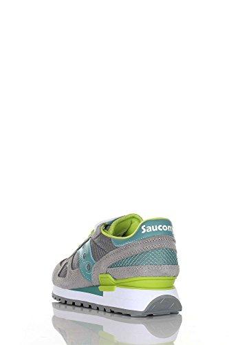 Saucony Shadow Original donna, pelle scamosciata, sneaker bassa Grey/Blu/Lime