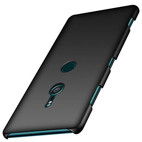 Arkour Sony Xperia XZ3 Hülle, Minimalistisch Ultradünne Leichte Slim Fit Handyhülle mit Glattes Matte Oberfläche Hard Case für Sony Xperia XZ3 (Glattes Schwarz) Slim Fit Hard Case