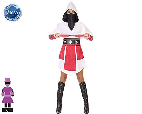 Atosa-54584 Disfraz Ninja, Color Blanco, XL (54584)