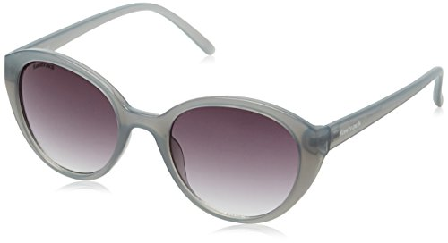 Fastrack UV Protected Oval Women's Sunglasses - (P350BK3F|50|Smoke (Grey/Black) Color)