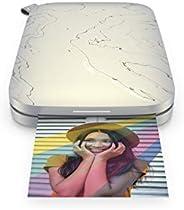 HP Sprocket Impresora fotográfica instantánea portátil de 5.8x8.7 cm, Imprima imágenes en papel adhesivo ZINK