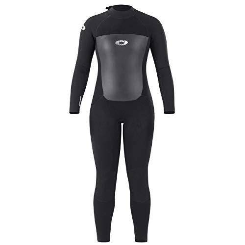 Osprey Origin - Combinaison de plongée Néoprène 5mm pour femme, combinaison de surf longue hiver, Noir, (L)
